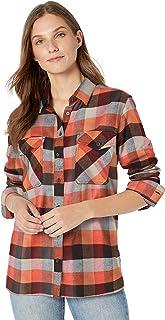 Pendleton Womens Elbow Patch Flannel Shirt Long Sleeve Button Down Shirt