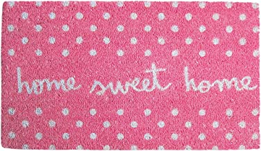 Laroom Felpudo diseño Sweet Home, Jute & Base Antideslizante, Rosa, 40 x 70 cm