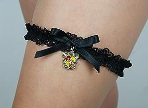 Giarrettiera di pizzo matrimonio sposa biancheria intima regali de nozze addio al nubilato nero Harry Potter