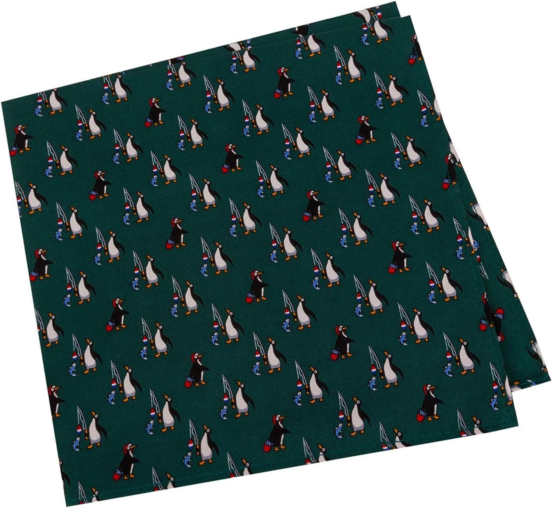 Tommy Hilfiger Mens Penguin Fishing Pocket Square