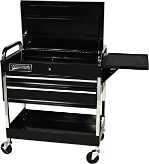 Williams 50721 3 Drawer Roll Cart, 34-Inch, Black