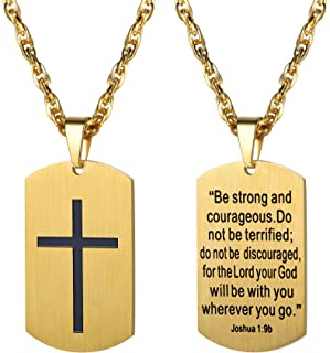 Best gold mens dog tag necklaces Reviews