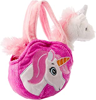 Elka Australia 13001-16PK Unicorn & Bag Unicorn and Bag Toy, Pink, 16 Centimeters