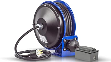 Coxreels PC10-3012-F Compact efficient Heavy Duty Power Cord Reel with a Duplex G.F.C.I. Metal Industrial Receptacle