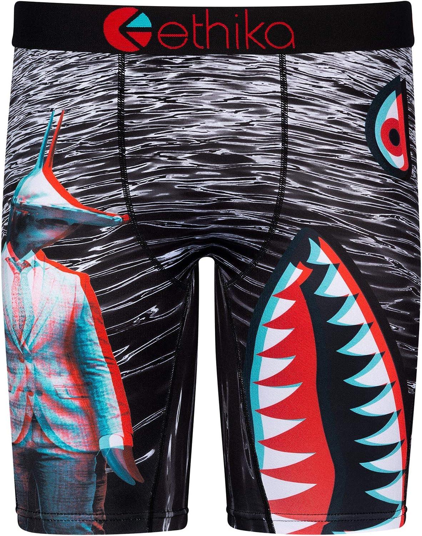 Ethika Mens Staple Boxer Briefs | Bomber Grey Suit 3D