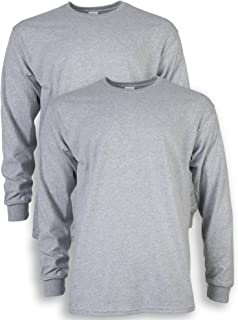 Men's Ultra Cotton Long Sleeve T-Shirt, Style G2400, 2-Pack