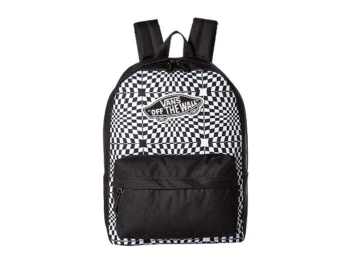 080a6648373 Vans Realm Backpack (Black Warp Check) Backpack Bags