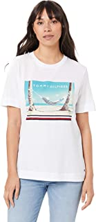 TOMMY HILFIGER Women's Organic Cotton Beach Print T-Shirt