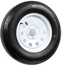 Radial Trailer Tire On Rim ST205/75R15 205/75-15 15 5 Lug Wheel White Modular