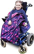 Kinder Fußsack für Rollstühle & Reha-Buggys - einteilig - Dunkelblau mit Flamingos