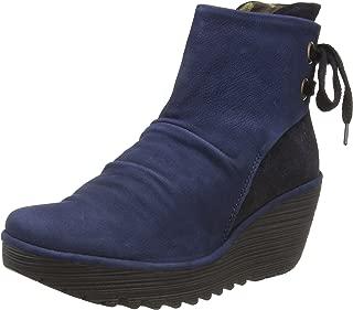 FLY London Women's Yama Cupido/Griffon Leather Ankle Boot Ocean/Blue