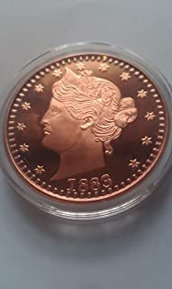 1883 Copper 1 Ounce Liberty V Round