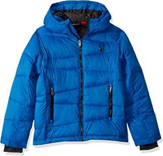 Boys' Big Water Resistant Hooded Puffer Jacket-Old Glory