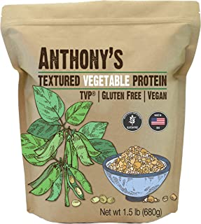 Anthony's Textured Vegetable Protein, TVP, 1.5 lbs, Gluten Free, Vegan, Made in USA, Unflavored