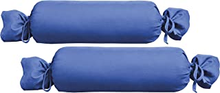 Biberna 0077144Jersey de para cojín cilíndrico de algodón 100%, 2Unidades, 15x 40cm Sapphire, 27x 18x 2cm