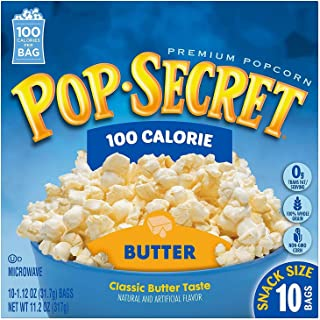 Pop Secret Microwavable Popcorn, Snack Size 100 Calorie Pop Butter, 10 Count Box (Pack of 3)