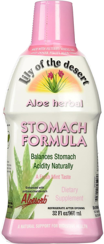 Lily of The Desert Aloe Herbal Stomach Formula Fresh Mint, 32 Fluid Ounce : Health & Household