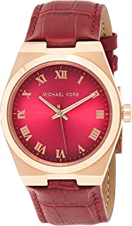 Michael Kors Channing for Women - Casual Leather Band Watch - MK2357