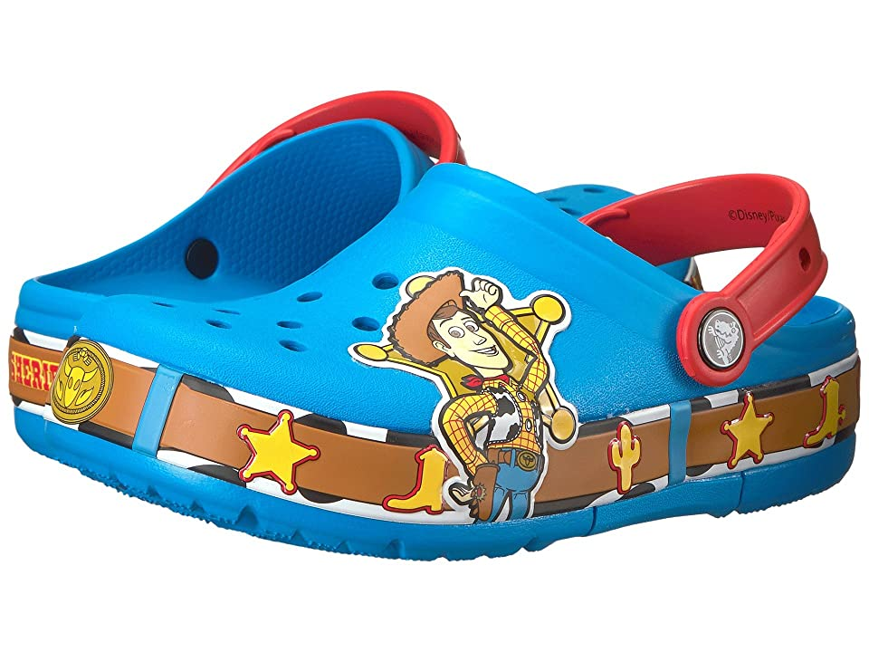 Crocs Kids Crocband Fun Lab Woody Lights Clog (Toddler/Little Kid) (Ocean) Kids Shoes