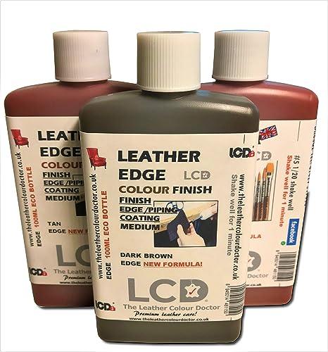 Acabado de pintura de borde de cuero, tinte de piel, colorante para manualidades, acabado de capa de borde, 100 ml (Beige)