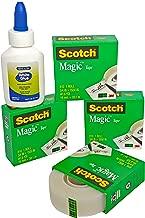 Scotch Magic Tape Refill (3/4 In X 1,500 In). Pack of 4. Plus Free Bonus 1 Mini Bottle Multi-Purpose White Glue.