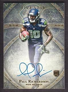 2014 Topps Five Star Football Autograph #FSA-PR Paul Richardson RC Auto Seattle Seahawks