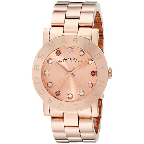 Marc by Marc Jacobs Womens MBM3216 Crystal-Accented Rose Gold-Tone Stainless Steel Watch