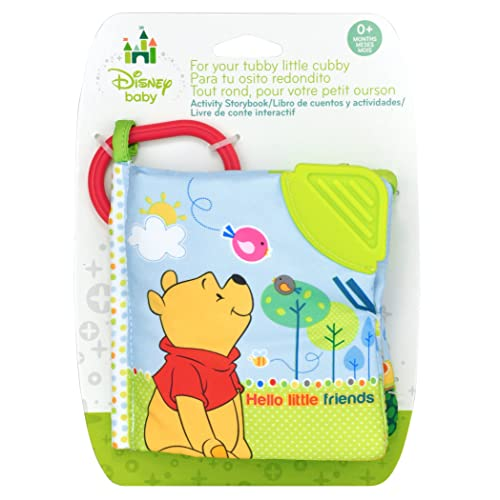 Disney Baby Winnie The Pooh Hello Little Friends On The Go Soft Teether Book, 5""