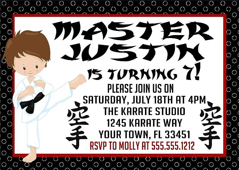Karate Birthday Party Invitations hmbdjwjs032667