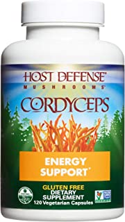 Host Defense, Cordyceps Capsules, Energy and Stamina Support, Daily Dietary Supplement, USDA Organic, 120 Vegetarian Capsu...