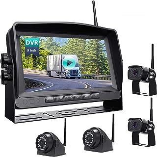 $445 » Wireless Backup Camera with 9''HD 1080P Monitor rv/Camper/Motorhome/Trailer//Truck/Pickup/Van 4 Rearview Cameras IP69K Wat...