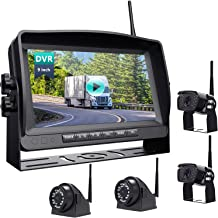 $445 » Wireless Backup Camera with 9''HD 1080P Monitor rv/Camper/Motorhome/Trailer//Truck/Pickup/Van 4 Rearview Cameras IP69K Wat...