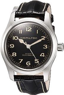 Hamilton - Reloj de Hombre HAMILTON Khaki Field Murph Auto en Cuero Negro y Acero H70605731