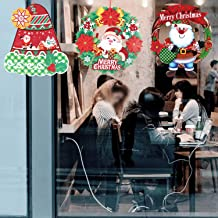 3Pcs Christmas Hanging Decorative Sign Ornaments, Merry Christmas Ornaments Banner Christmas Santa Snowman Wreath Garland for Christmas Holiday Door Home Wall Hanging Party Decorations (Style 4)