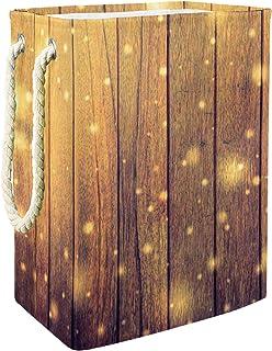 Vockgeng Planches en Bois Clignote Stockage de Jouets pour bébé Panier de Rangement imperméable Pliable de Jouets de Jouet...