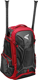 Easton Walk-Off PRO Bat & Equipment Backpack Bag | Baseball Softball | 2020 | 2 Bat Sleeves + Zippered Pockets | Vented Shoe Pocket | Molded External Helmet Holder + Team Logo Space | Fence Hook