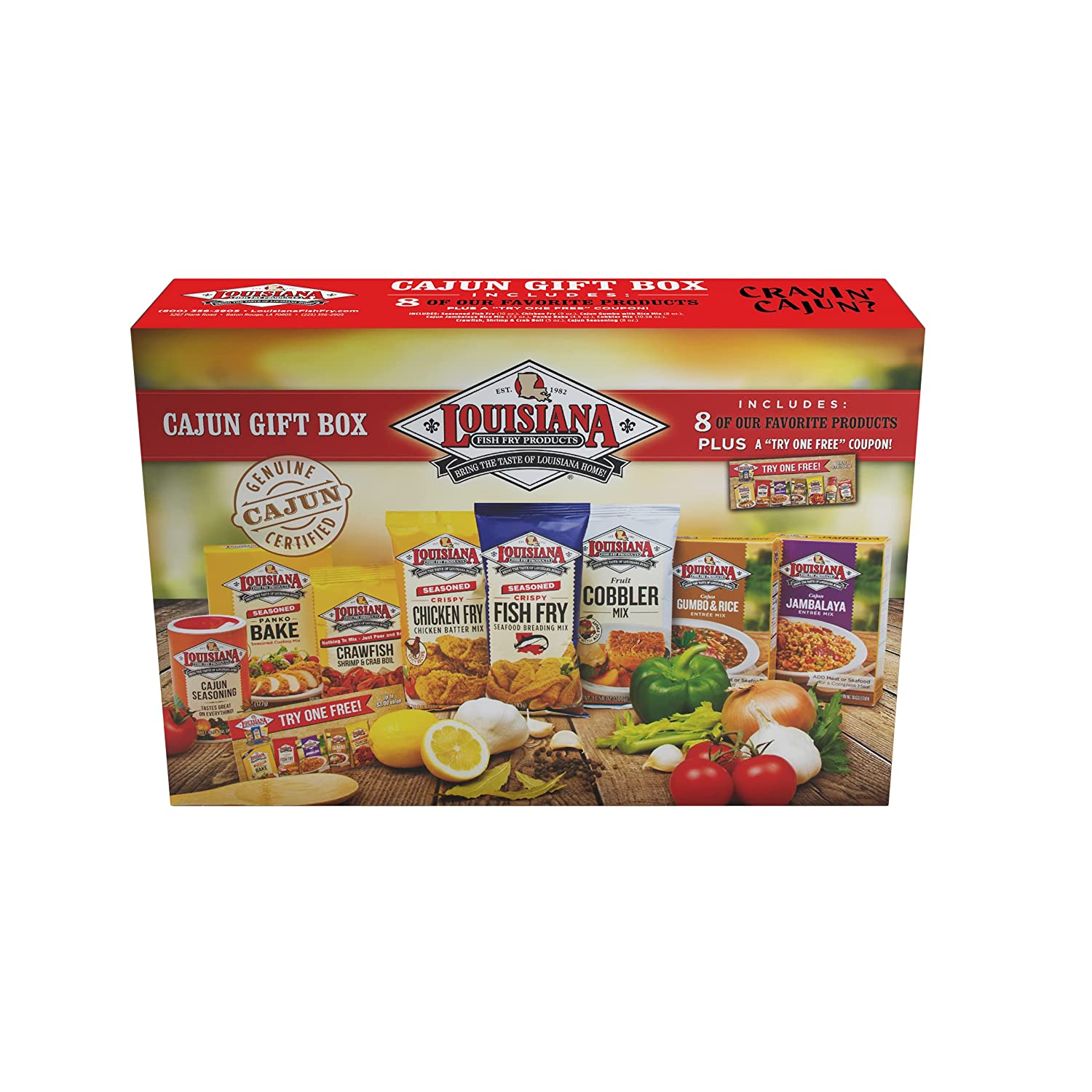 Louisiana Fish Fry Products Sales 8 Item with Gift Box Set 80. price Coupon