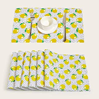 Place Mats Yellow Place Mats Kitchen Table Linens Home Kitchen