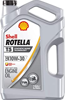 Shell Rotella T5 Synthetic Blend 10W-30 Diesel Engine Oil (1-Gallon, Single Pack)