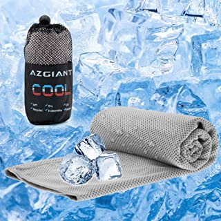 """AZGIANT Cooling Towel, Instant Cooling Towels for Athletes, 40""""x16"""" Cool Clothes for Women Chilling Neck Wrap for Camping, Hiking, Gym Workout, Fitness, Yoga, Golf,Gray"""
