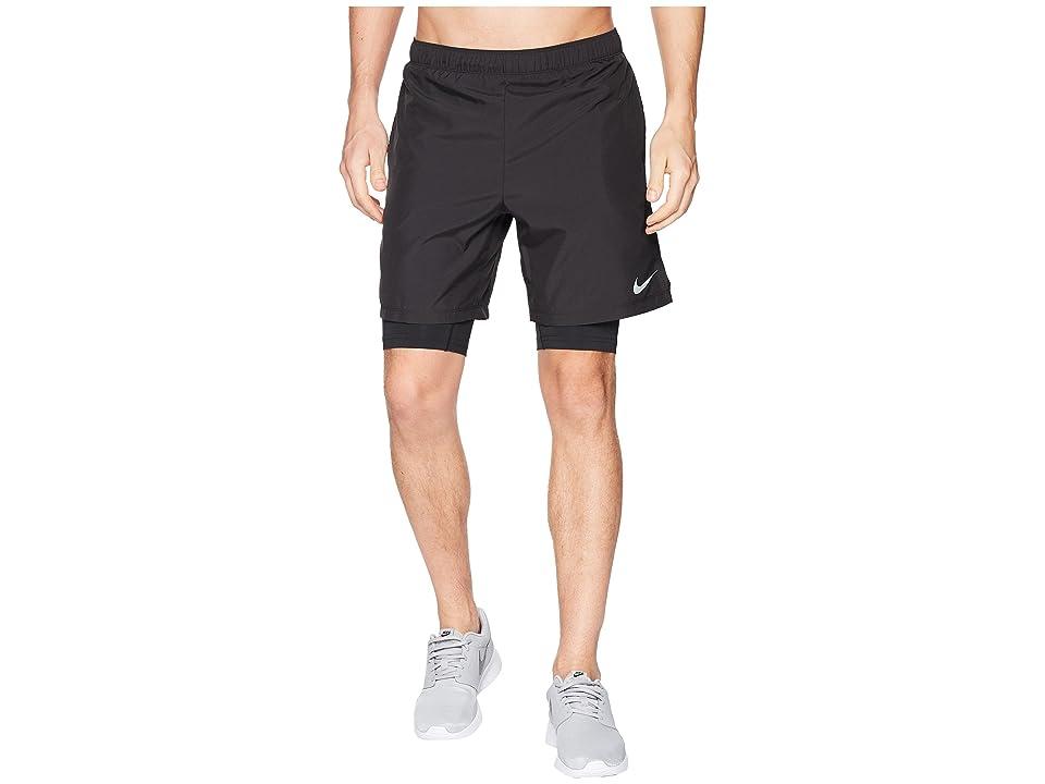 Nike Dry Shorts Challenger 7 2-in-1 (Black/Black) Men