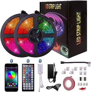LED-stripverlichting Touw licht String Licht 5050 RGB 600 LED zelfklevende kerstverlichting voor huis, feest, bardecoratie...