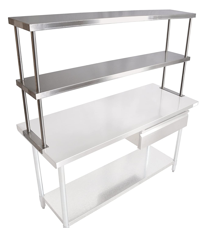 John Boos Recommended OS-ED-1260 Stainless Steel Double Branded goods 430 Economy Overshel