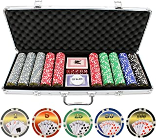 JPC 11.5g 500pc Royal Flush Poker Chips Set