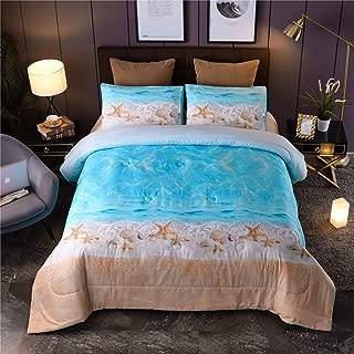 A Nice Night Boho Bohemian Comforter Set, Sand Star Ocean Beach Printed, Soft Microfiber Queen Bedding Set (Boho-Sand)