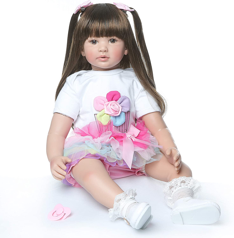 ZIYIUI Doll 24 inch 60 cm Reborn Baby Dolls Lifelike Cute Boy Girl Toy Handmade Birthday Xmas Gift