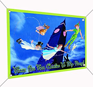 Peter Pan Banner Large Vinyl Indoor or Outdoor Banner Sign Poster Backdrop, party favor decoration, 30