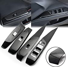 Lavnox Carbon Fiber Metal Accord License Plate Frame Tag Cover Holder Mount for Honda Accord 2