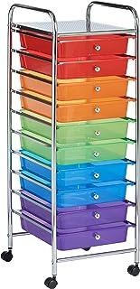 VonHaus–Carrito de almacenamiento con 10cajones para casa oficina o salón plástico multicolor 10 Drawer