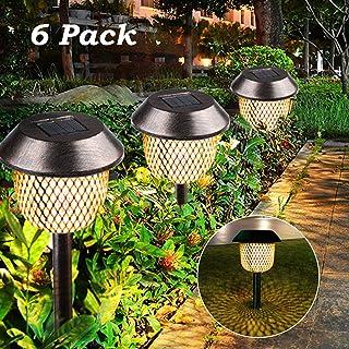 Lámpara solar para jardín, Tencoz LED Luz de la antorcha
